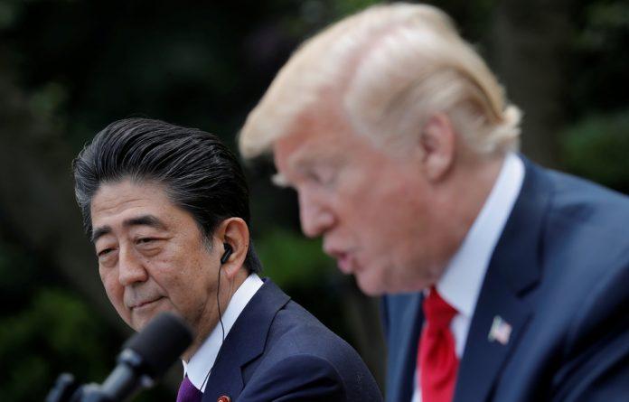Japan's Prime Minister Shinzo Abe and US President Donald Trump