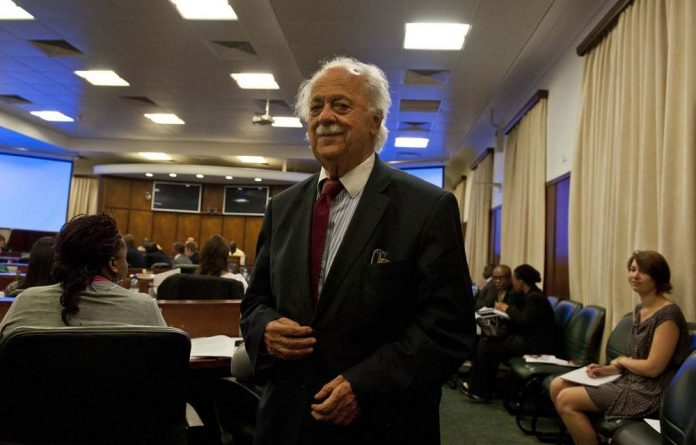George Bizos says aspects of the Legal Practices Bill are problematic.
