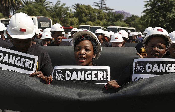 Justice for Miners March: Former miners are seeking compensation for exposure to conditions that caused TB and silicosis while working in gold mines.