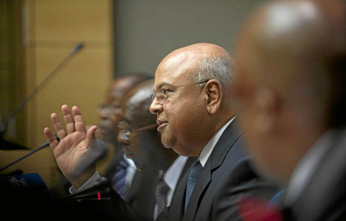 Finance minister Pravin Gordhan operates on a two week cycle as he prepares to be ousted at any stage.