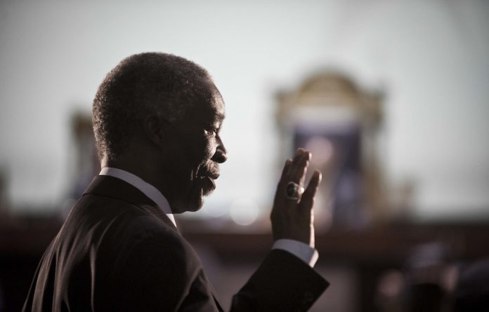 In the hot seat: Thabo Mbeki testifies at the arms procurement commission.