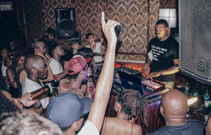 London-based producer Tall Black Guy commands the dancefloor during his set at a Weheartbeat event.