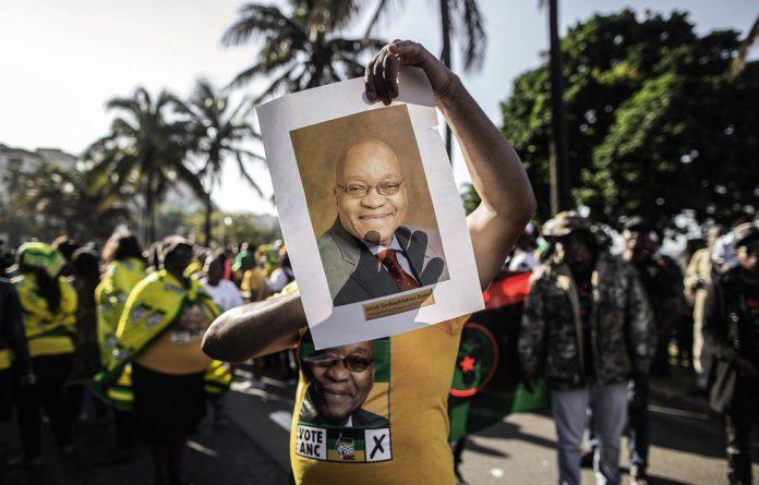 Back on the list: Former president Jacob Zuma has also made the ANC's draft parliamentary list