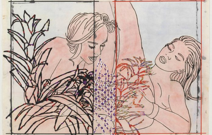 Naked Beauty: In their mixed-media works such as Mutual Consent