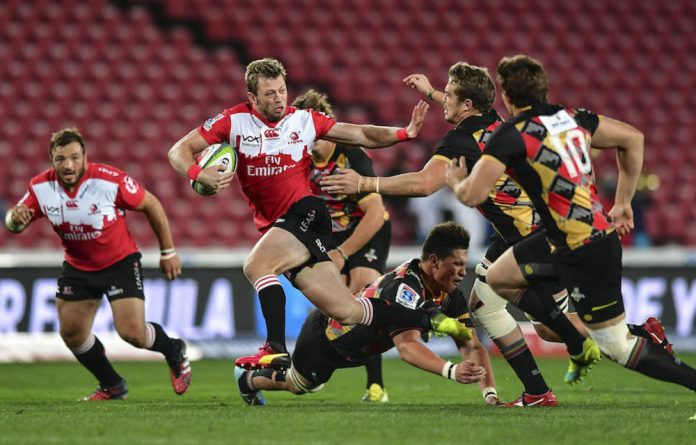 Ruan Combrinck of Lions during the Super Rugby match between Emirates Lions and Southern Kings at Emirates Airline Park earlier this month in Johannesburg.