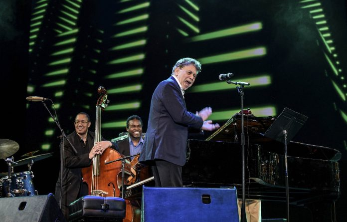 Clap along: Pianist Monty Alexander doing what he does best: being the life of the party and