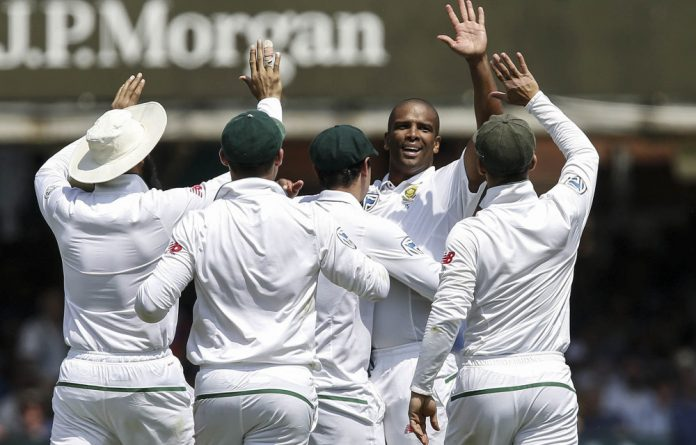 Merit man: Vernon Philander ripped through the England top order on the first day of the first Test at Lord's this week