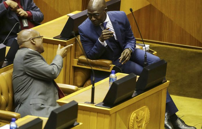 Teamwork: Former president Jacob Zuma and erstwhile finance minister Malusi Gigaba.