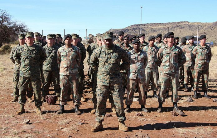 South African and American soldiers recently took part in a joint training exercise in the Northern Cape