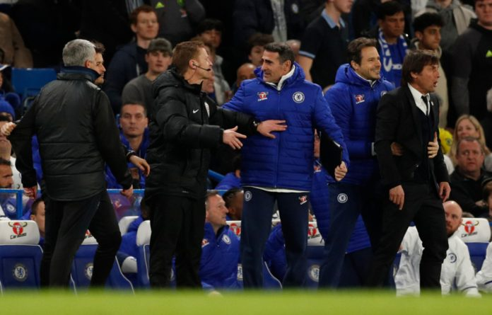 Chelsea boss Conte was furious with United's aggressive approach after Ander Herrera was sent off for two fouls on Eden Hazard in Monday's 1-0 victory at Stamford Bridge.