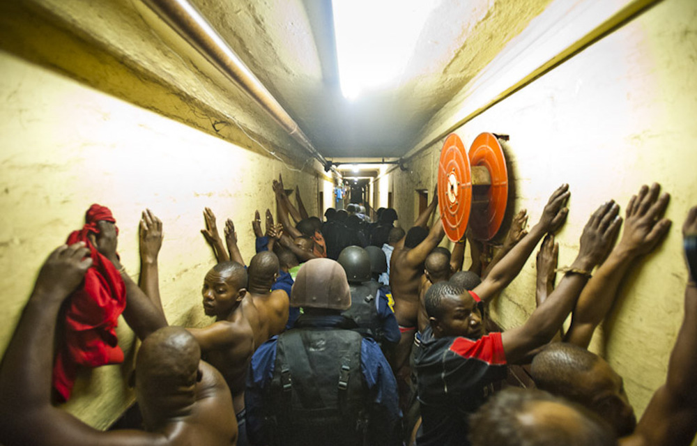 Scenes from a Jeppestown hostel during Operation Fiela in 2015.