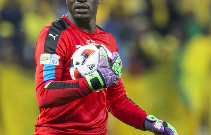 Epic: Denis Onyango is rated as one of the world's top 10 goalkeepers.