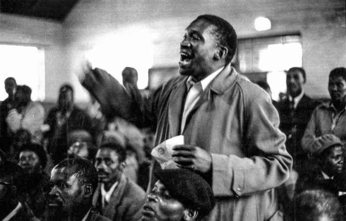 Titan of the struggle: Robert Sobukwe and other frustrated Africanists split from the ANC during a stormy provincial congress in 1958