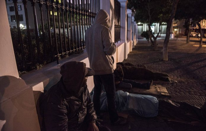 Score: The harsh circumstances of living on the street can be numbed for as little as R20