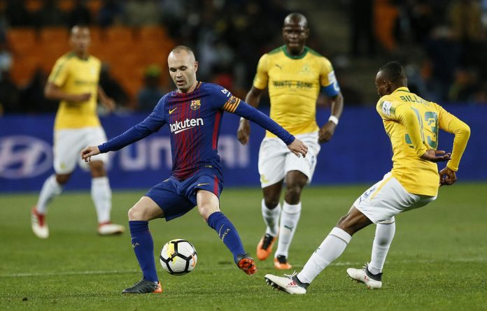Fanfare: Getting to see Andrés Iniesta was a major draw for South African fans.