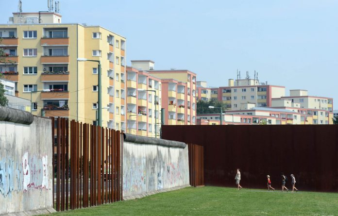 The memorial of the Berlin Wall at Bernauer Strasse