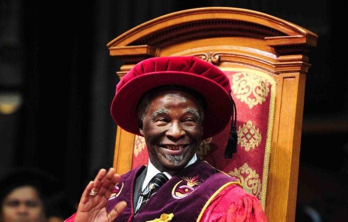 Unisa chancellor Thabo Mbeki.
