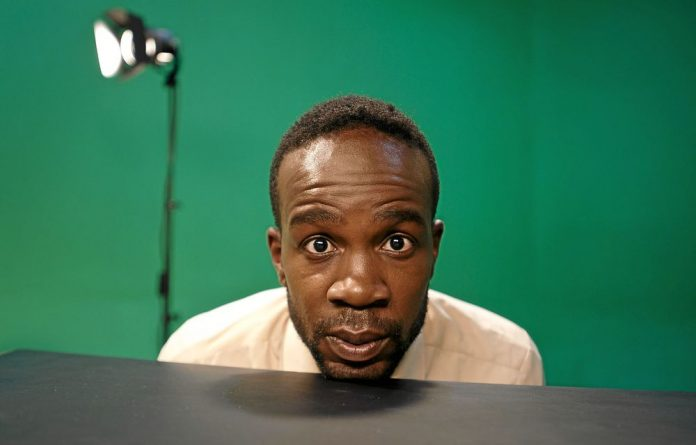 Heads you laugh: South Africa's David Kibuuka.