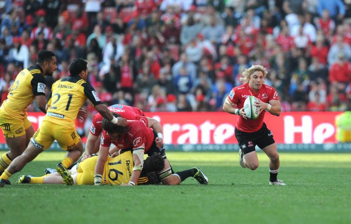 Mane man: Scrumhalf Faf de Klerk will be looking for a memorable swansong outing with the Lions during Saturday's Super Rugby final against the Crusaders