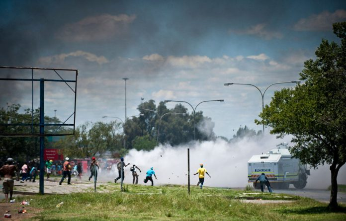 Protests in Zamdela have left two people dead and nine injured so far.