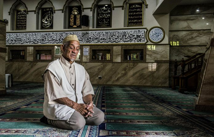 Faadil Soeker at the Auwal Masjid in the Bo Kaap.