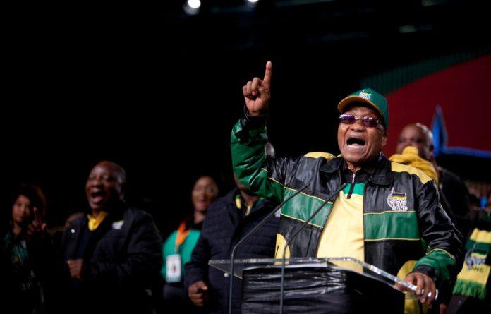 President Jacob Zuma during his opening address.