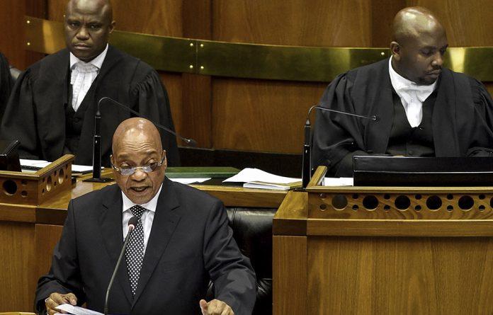 President Jacob Zuma made the right noises