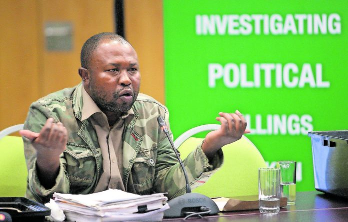 In danger: The State Security Agency said Thabiso Zulu needed protection after he testified at the Moerane commission.