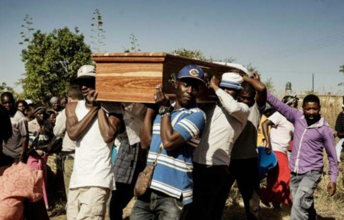 Ishmael Kumire's casket