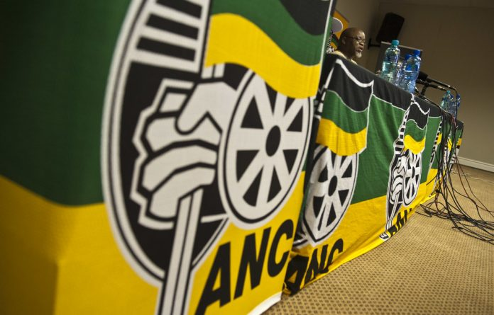 Secretary General of the ANC Gwede Mantashe addresses the press at the party's national executive committee meeting