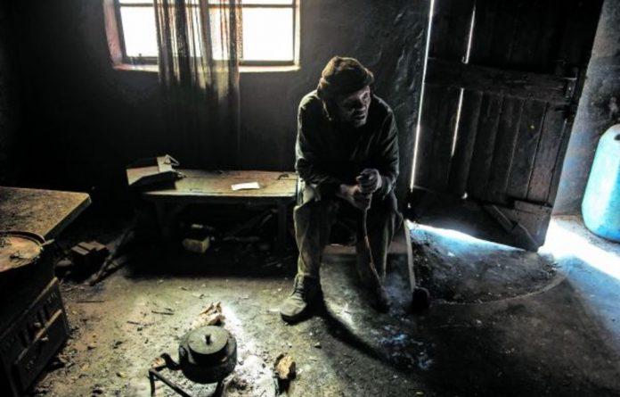 Villages in Limpopo's platinum-rich belt have been destroyed. Madimetja Albert Ramatsobane lives alone.