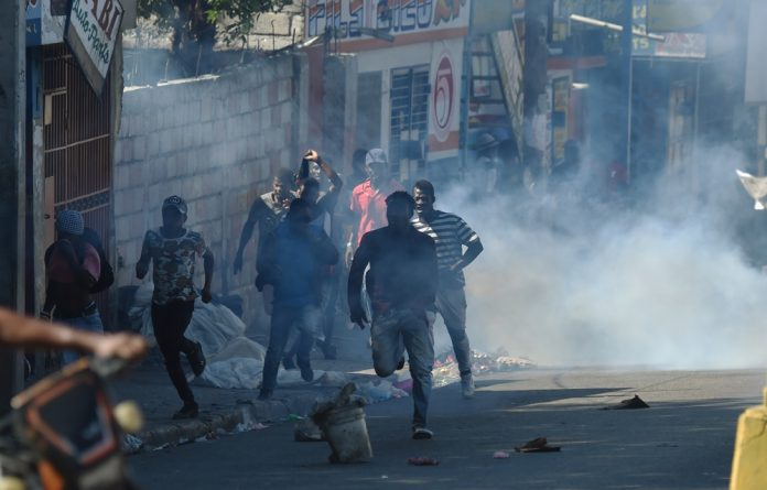 Barricades have sprung up in some areas of the capital and other cities