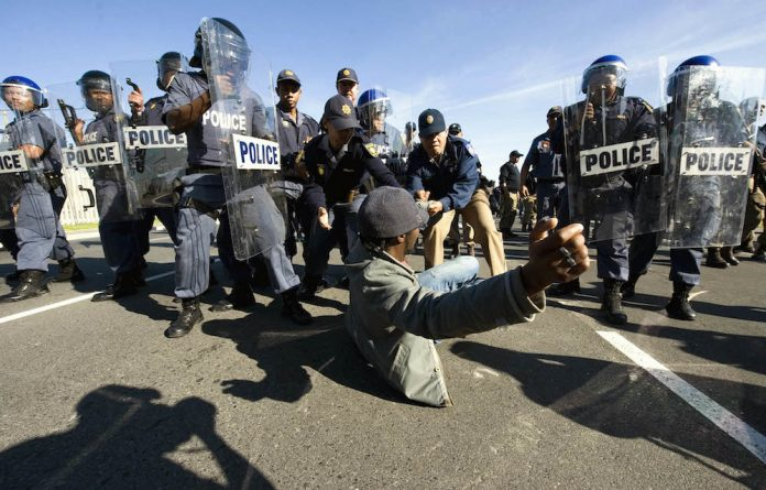 Service delivery protest in Khayelitsha