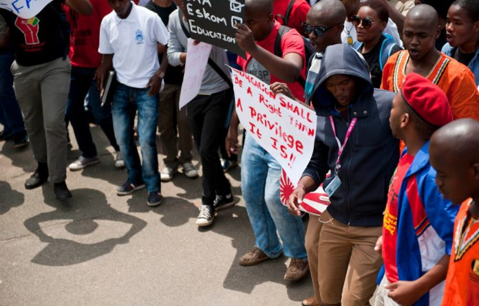 Students have vowed further protests until higher education minister Blade Nzimande agrees to meet with them.