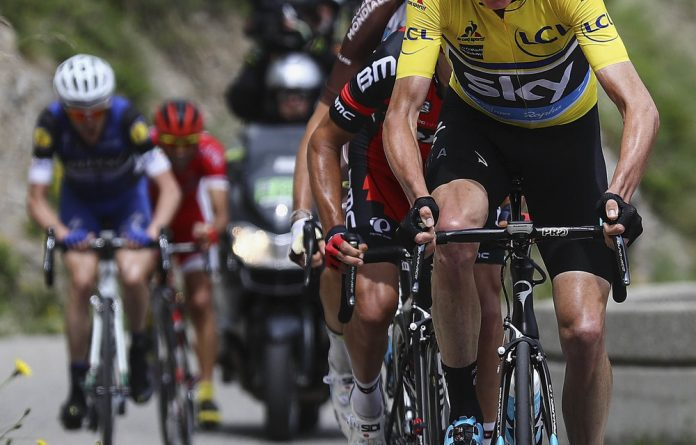 """Staying focused: Chris Froome says the support he has received from the peloton """"has just been incredible""""."""