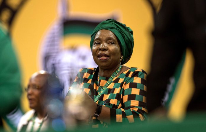 Patriarchy rules: Nkosazana Dlamini-Zuma did protest that she's more than an ex-wife but she accepted and used President Jacob Zuma's endorsement of her for the ANC presidency.