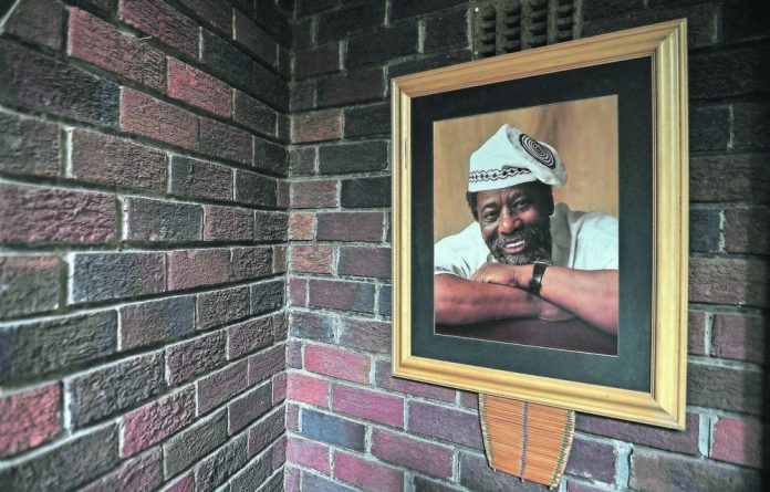 Multiskilled: Legendary actor Joe Mafela's portrait at his home in Kew