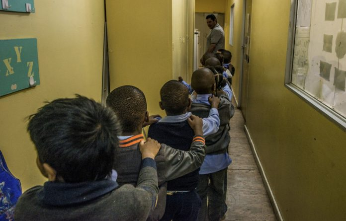 Toeing the line: The children at the Johannesburg Autism School need an organised and constant schedule at school to provide them with a stable