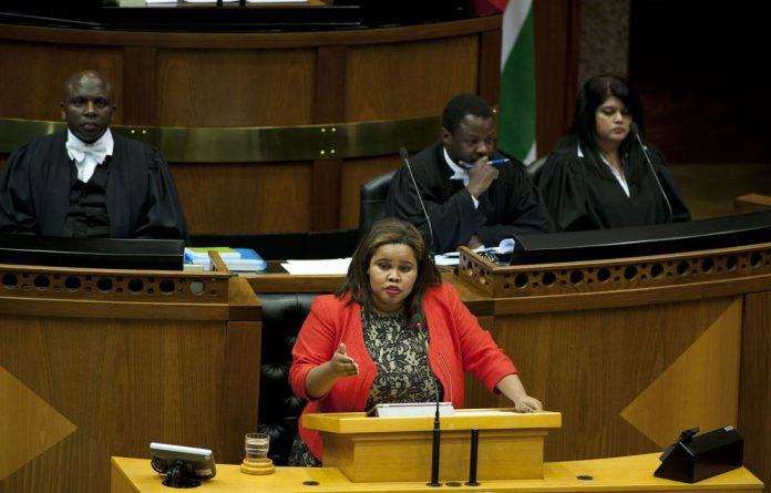 DA parliamentary leader Lindiwe Mazibuko.