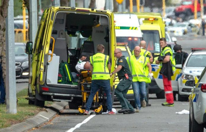 A gunman opened fire on Friday prayers at a mosque in New Zealand