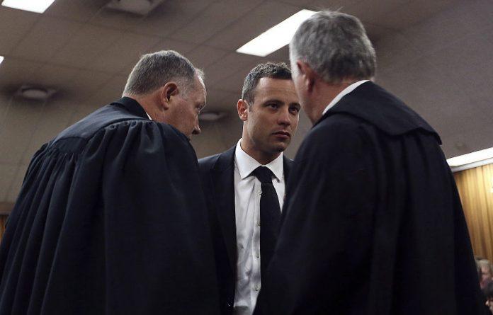 Oscar Pistorius in the high court in Pretoria.