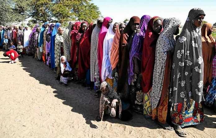 Refugees: More than a million people may have been forced to leave their homes in northern Nigeria by the insurgency of Islamist sect Boko Haram