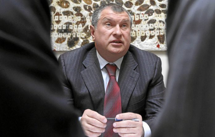 Then Russian deputy prime minister Igor Sechin speaks during an interview with Reuters during the St Petersburg International Economic Forum in 2010. Photo: Reuters/Alexander Demianchuk