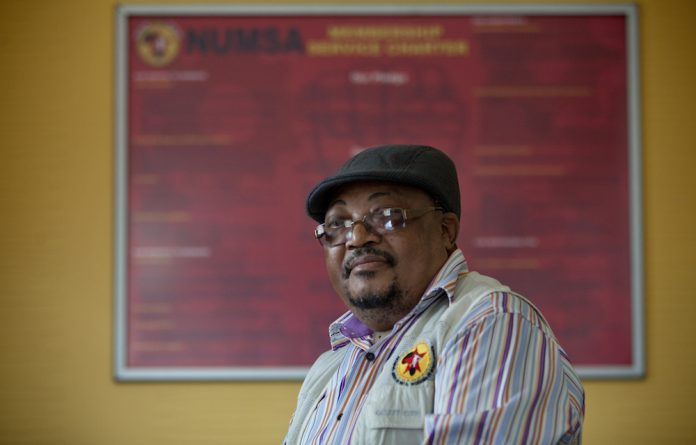 Tasked: Numsa's Steve Nhlapo is part of a team trying to save the local steel business that is in decline