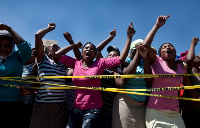 Diepsloot mothers protest the toddler killings.