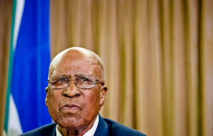Andrew Mlangeni heads the integrity committee