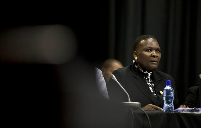 Riah Phiyega during the Farlam commission.