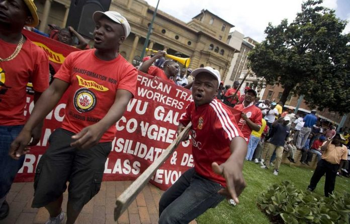 Truck drivers have hit the streets in Johannesburg to protest against wages as low as R3 000 a month.