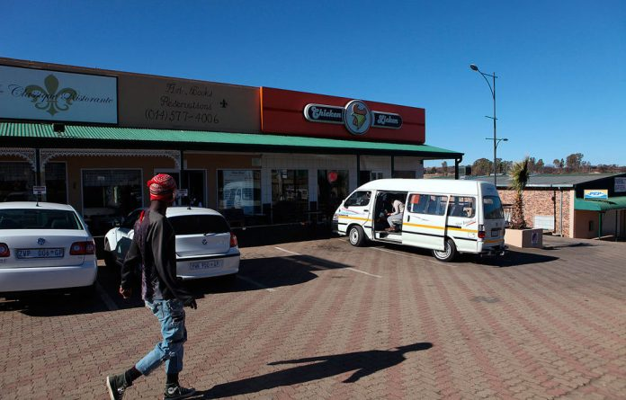 The Chicken Licken outlet in Magaliesburg outside which Fayaaz Kazi and Anser Mahmood were allegedly beaten.