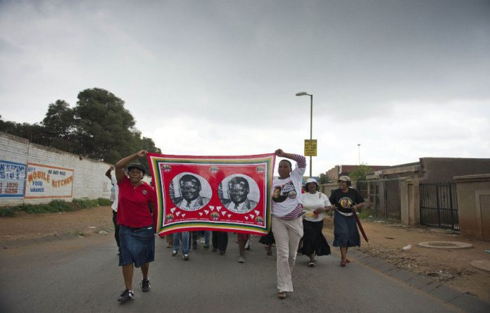 IFP members campaign in Soweto for this year's polls.